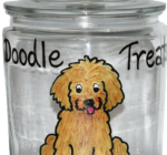 Large Hand painted Biscotti Jars