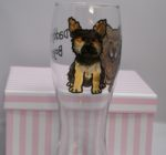 Hand Painted Glass Pint Glass