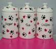 Storage Jar Set from our Hearts & Paws Collection