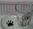 Hand Painted Glass Mug & Snack Plate Set