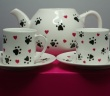 Teapot and Two Cups Set from our Hearts & Paws Collection