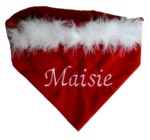 Personalised Christmas Velvet All in one Embroidered Bandana/Bib