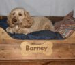 Medium Personalised Wooden Dog Bed 60cm x 75cm (approx)