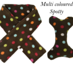 Doggy Scarf & Toy Set Brown & Multi Spot