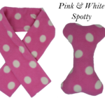 Doggy Scarf & Toy Set Pink & White
