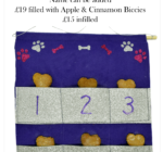 Personalised Purple & Silver Doggy Advent Calendar